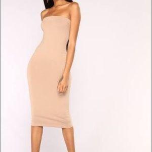 ❗️SALE❗️Tan Tube Dress